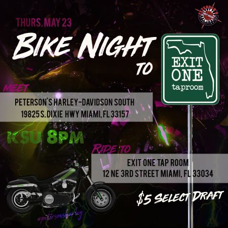 Bike Night at Exit One Taproom