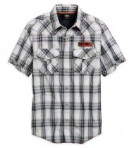 Perfomance plaid vented shirt