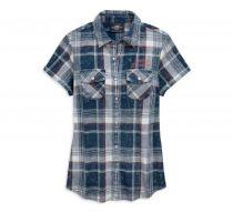 Womens Plaid Eagle Plaid Shirt