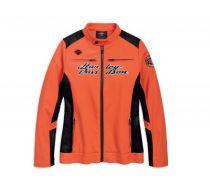Womens Spicy Orange Mesh Accent Activewear Jacket