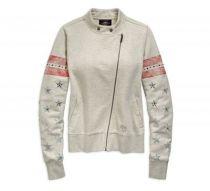 Womens Heather Stone Flag Activewear Jacket