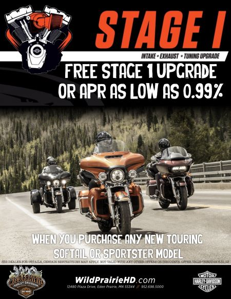 FREE Stage 1 upgrade OR APR as low as 0.99% with new bike purchase!