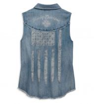 Harley Davidson Flag Sleeveless Shirt