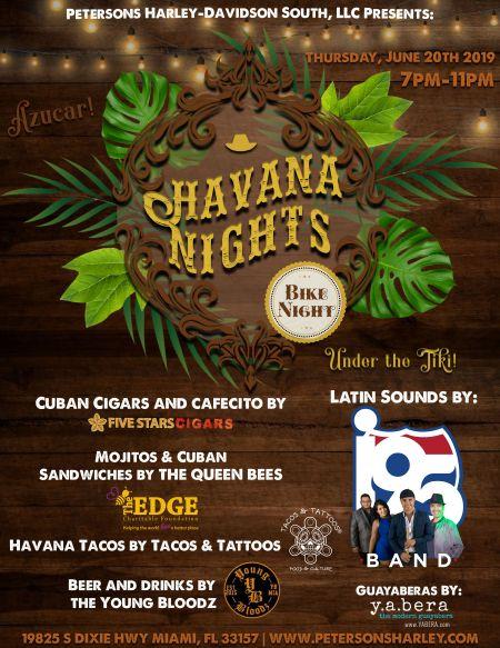 Havana Nights Bike Night Under the Tiki!