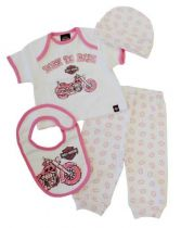 ΠΑΙΔΙΚΟ 0302474 GIRLS 4 PC BOXED GIFT SET 3/6M