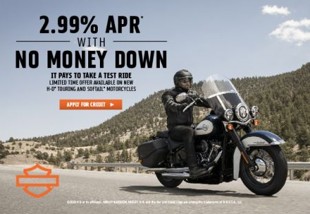 Limited-Time TOURING & SOFTAIL® Model Finance Offer
