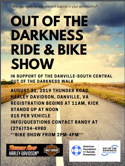 Bike Show / Ride Suicide Prevention presented by Piedmont community Services