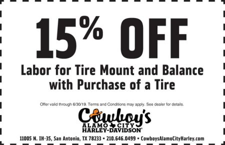 June Service Special - 15% off Labor for Tire Mount and Balance