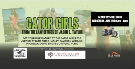 Gator Girls Bike Wash: Island Days Bike Night Edition