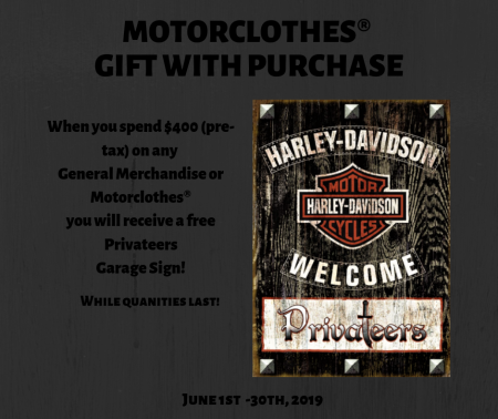 MOTORCLOTHES® GIFT WITH PURCHASE!