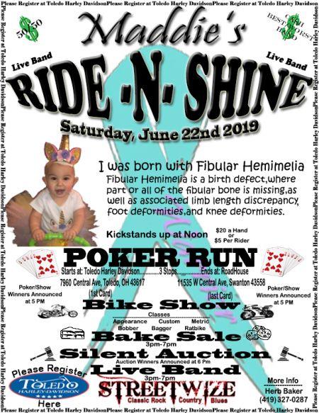 Maddie's Ride and Shine