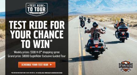 Test Ride to Tour Sweepstakes