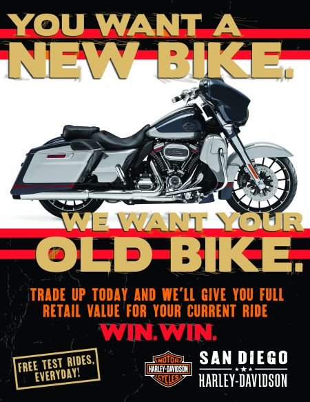 We want your old bike!