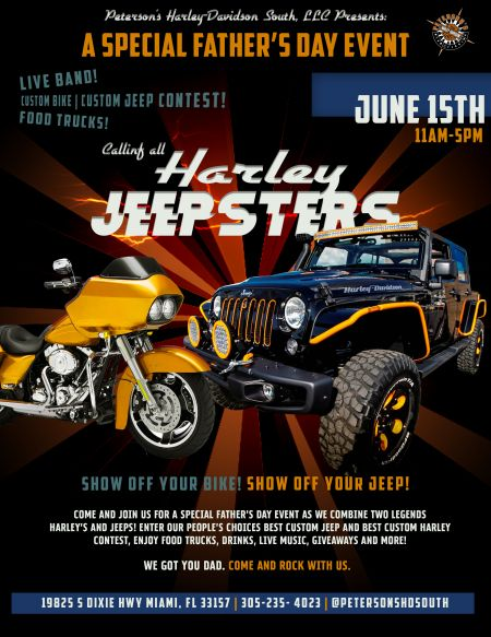 Harley Jeepsters! A Special Father's Day Event