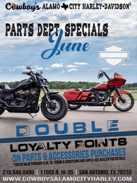 Parts Specials for June