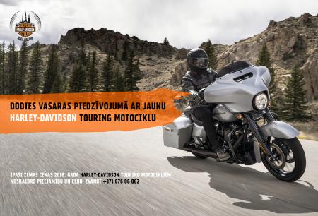 Dodies vasaras piedzīvojumā ar jaunu Harley-Davidson motociklu