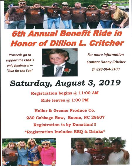 6th Annual Benefit ride in Honor Dillion L. Critcher