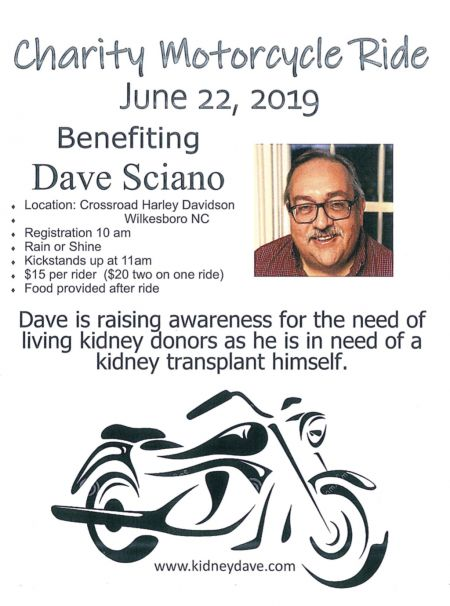 Charity Motorcycle Ride. Saturday, June22nd