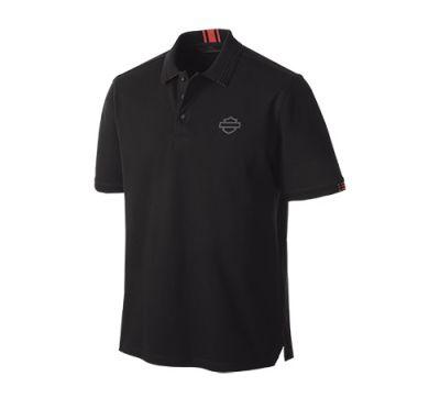 Harley-Davidson® Men's Stretch Pique Slim Fit Short Sleeve Polo 99148-19VM