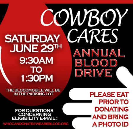 Cowboy Cares Annual Blood Drive