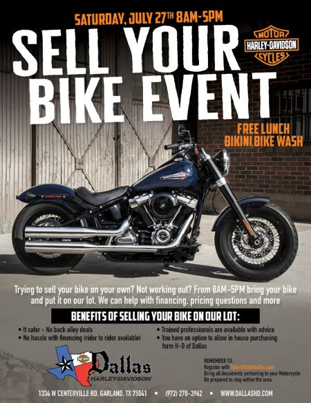 Sell Your Bike Event- It's Back!
