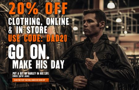 20% OFF CLOTHING & PARTS IN STORE & ONLINE
