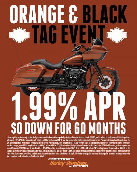 Orange & Black Tag Event