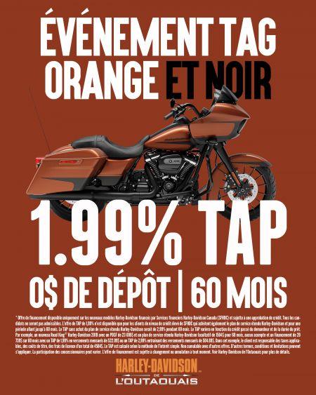 Événement Tag Orange et Noir