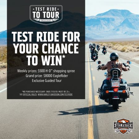 Test Ride for Your Chance to Win!