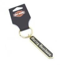 Keychain, Harley-Davidson, Gold Plated
