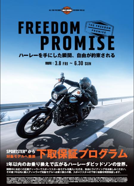 FREEDOM PROMISE  締め切り間近!!!!