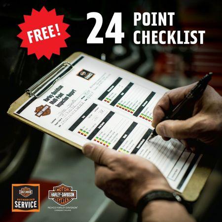 ตรวจเช็คสภาพรถฮาร์ลีย์-เดวิดสัน 24 รายการ ฟรี!!!