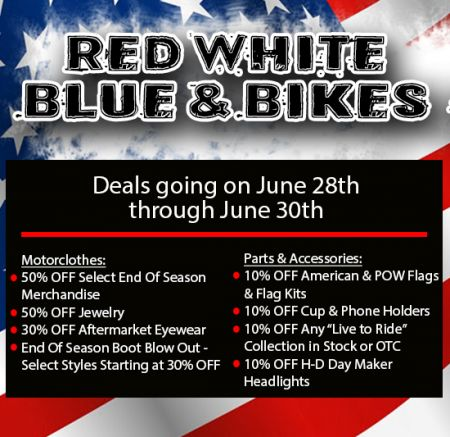Red White Blue & Bikes Motorclothes & P&A