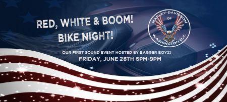 Red, White & BOOM! Bike Night!