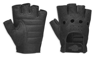 Harley-Davidson® Men's Bar & Shield Fingerless Leather Gloves