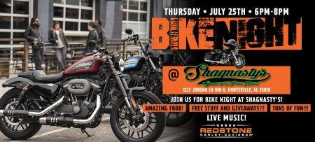 Bike night at Shagnasty's