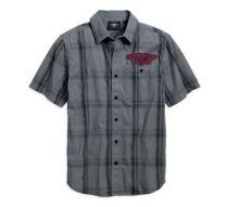 Harley-Davidson®  Men's Skull Target Plaid Shirt