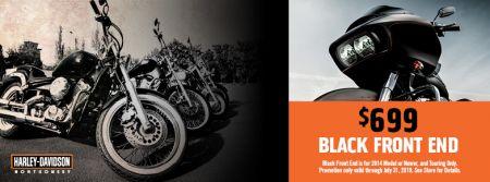 Black Front End $699