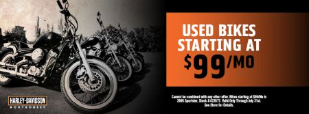 Used Bikes Starting at $99 a month