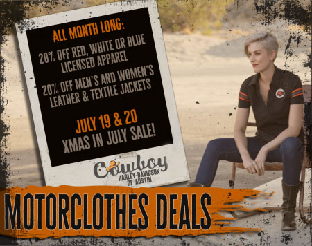 July Motorclothes Specials