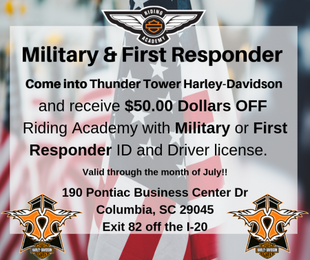 Military and First Responder Riding Academy Promo