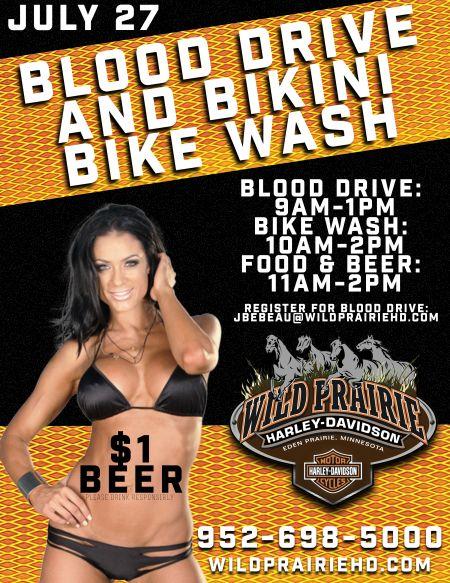 Blood Drive and Bikini Bike Wash