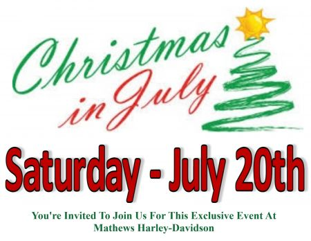 Christmas in July Event at Mathews HD