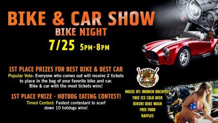 Bike and Car Show Bike Night!