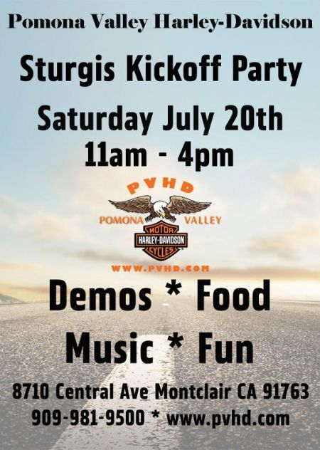 Count down to Sturgis Kickoff