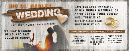 Big Ol' Harley Wedding