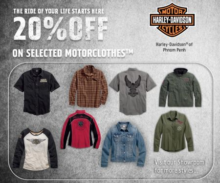 20% OFF on selected Motorclothes™