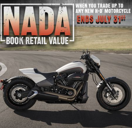 Trade up to any new H-D® model, and get NADA retail value on your trade!