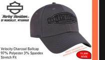 Velocity Charcoal Ballcap