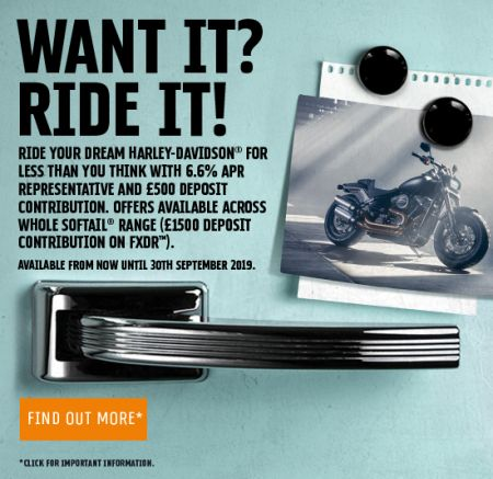 6.6% APR & £500 DEPOSIT CONTRIBUTION ON NEW SOFTAIL® MODELS*